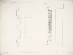 Dholka, Gujarat: Tanka Masjid Plan of the doorway on the north of the courtyard